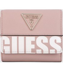 billetera rosa-blanco guess