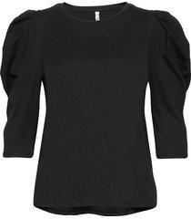 pzclarissa t-shirt t-shirts & tops short-sleeved svart pulz jeans