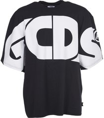 gcds black oversize t-shirt with logo
