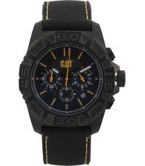 reloj negro-amarillo caterpillar
