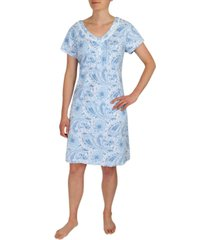 miss elaine paisley print nightgown