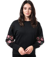 womens lisa embroidered crew sweatshirt