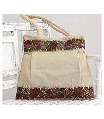 shoulder bag, 'floral beige' (india)