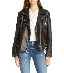 women's frame pch leather moto jacket