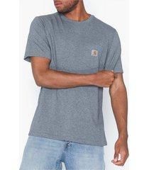carhartt wip s/s pocket t-shirt t-shirts & linnen dark grey