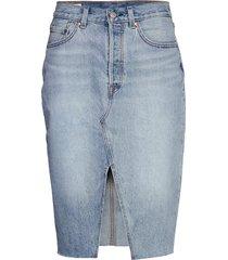 deconstructed midi skirt broke knälång kjol blå levi´s women