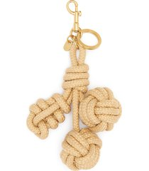 woven cherries smooth rope charm