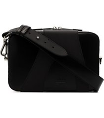 a-cold-wall* panelled crossbody bag - black