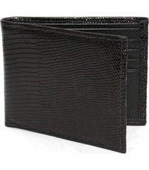 men's torino genuine lizard wallet - black