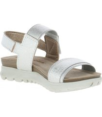 sandalia dance plateado hush puppies