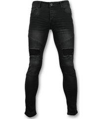 skinny jeans true rise e slim fit jeans - biker jeans voor - 3013