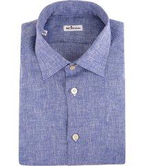 man regular fit shirt in cornflower blue linen