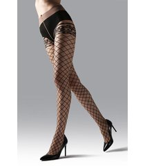natori scroll sheer tights, women's, size l