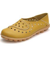 scarpe piatte in pelle scamosciata di grandi dimensioni