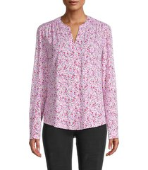 for the republic women's splitneck floral shirt - print - size s