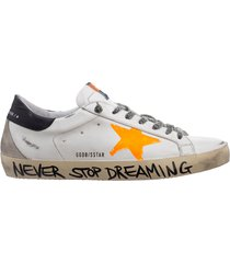 scarpe sneakers uomo in pelle superstar