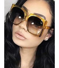 retro gradient square oversized sunglasses