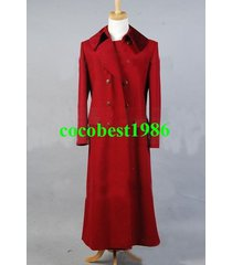 who is doctor dark red long trench wool coat costume any size