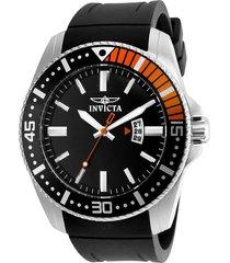 reloj invicta 21392 negro silicona  pro diver