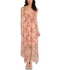 adrianna papell floral-print gown