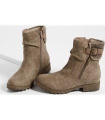maurices womens angela knit collar ankle bootie brown