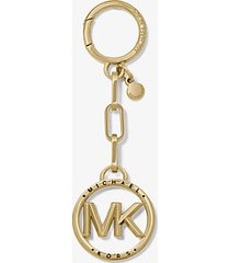 mk ciondolo portachiavi con logo - color oro 18k (oro) - michael kors