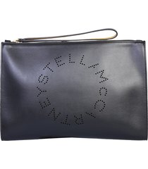 stella mccartney clutch with logo