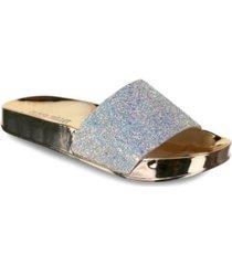 olivia miller delray chunky glitter pool slide sandals women's shoes