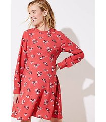 loft maternity floral flare dress