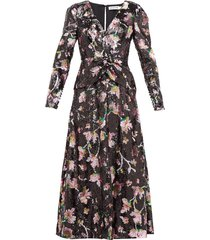 sequinned floral maxi dress