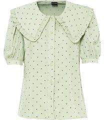 camicetta a maniche corte con colletto rotondo (verde) - bodyflirt