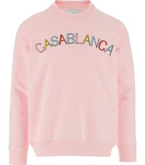 casablanca designer sweatshirts, casablanca pink cotton men's sweatshirt