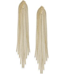 inc gold-tone snake chain multi-row linear drop earrings, created for macy's