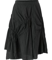 kjol med dekorsömmar