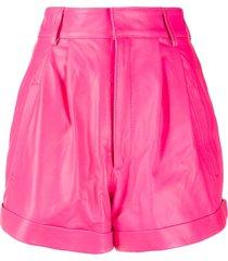 manokhi high-waisted oversized shorts - pink