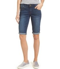 women's wit & wisdom ab-solution cuffed denim shorts, size - (nordstrom exclusive)