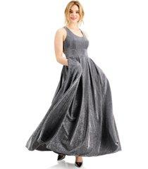 morgan & company juniors' pleated shine gown