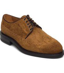 flairville low laceshoes snörade stövlar brun gant