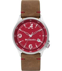 columbia men's canyon ridge alabama saddle leather watch 45mm