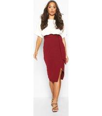 batwing colour block midi dress, berry