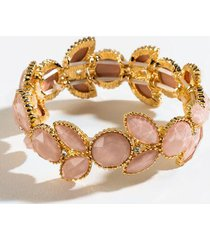 casey stone stretch bracelet - blush