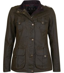 barbour winter defense four-pocket waxed cotton coat