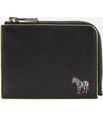 ps paul smith men's zebra zip wallet - black