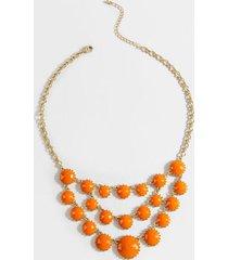 sela tiered starement necklace - orange