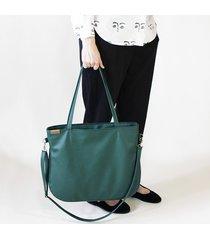 pacco bag torebka zielona na zamek vegan