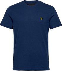 crew neck t-shirt t-shirts short-sleeved blå lyle & scott