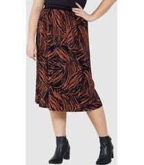 plisserad kjol sara lindholm svart::orange