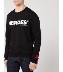 hugo men's deroes sweatshirt - black - l