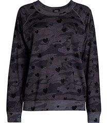 camo hearts sweatshirt