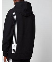y-3 men's 3-stripes terry hoodie - black - s